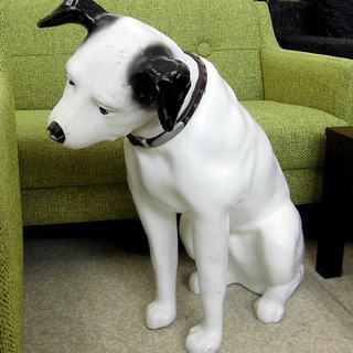 ビクター 大型 ニッパー犬 昭和 広告ディスプレイ 札幌 西区 西野