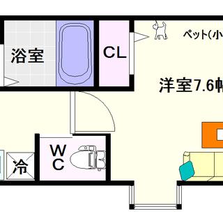 【エグゼ難波西Ⅱ】4号タイプ!1Kタイプ!Wi-Fi無料は当然ですね☆