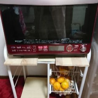 シャープ 過熱水蒸気オーブンレンジ 2段調理 31L レッド R...