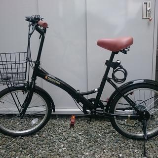 折り畳み自転車 黒 20インチ