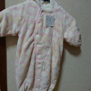 新品モコモコ♡ロンパース おくるみ (新生児ベビー服)50~70cm