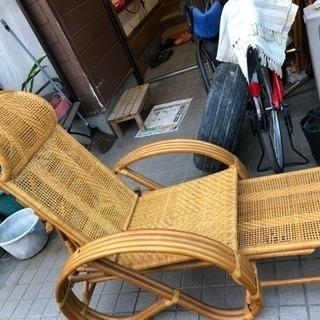 籐の長椅子
