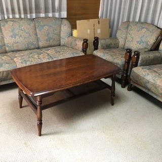 カリモク家具 ソファ&テーブル 4点セット