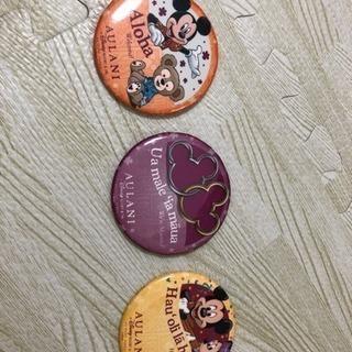 Aulani Disney アウラニディズニー 缶バッジ三種