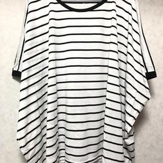M  BIGボーダーTシャツ(ホワイト)