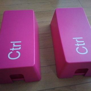 ケーブルボックス グリーンハウス ピンク 2個