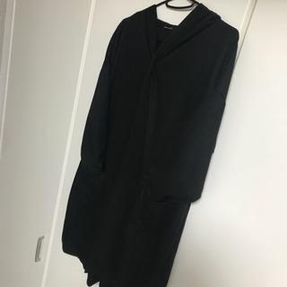 【新品未使用】ブラック メンズ ロングカーディガン 薄手