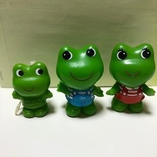 【非売品】ケロヨン ケロちゃん コロちゃん フィギュア 指人形 3個