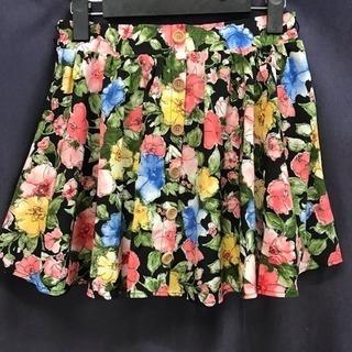 INGNI フロントウッドボタン 花柄フレアスカート♡