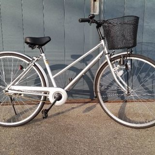 買い物自転車ハーネス27/27型シルバー18年購入