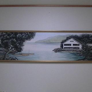 大型絵画 270cm×70cm ◆水彩画/風景画/壁掛/  はまだ...