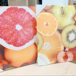 フルーツ2枚組 壁掛け絵画 パネル
