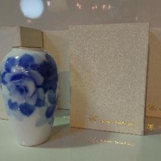 売約済み★直接引取限定!大倉陶園 ブルーローズ 15㎝花器4個セット★