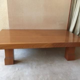 天然無垢一枚板の座卓