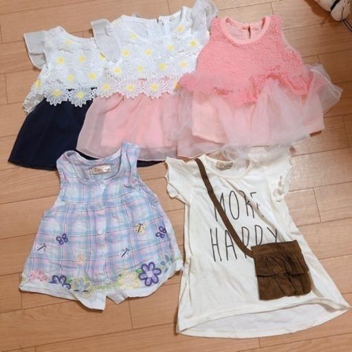 58df1804a90 女の子 ワンピース ベビー 80 (湯気) 掛川の子供用品の中古あげます ...