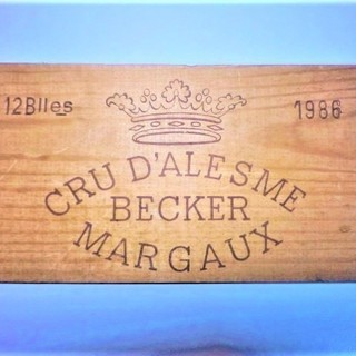 1986シャトー・マルキダレーム・ベッカーのワイン木箱板 ¥500