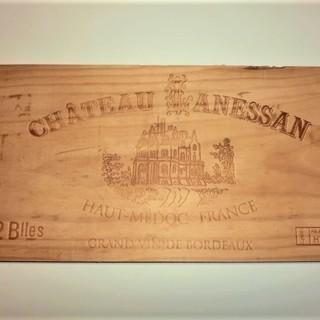 1990年代 シャトー・ラネッサンのワイン木箱板 ¥500