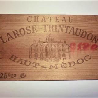 シャトー・ラローズ・トラントドンのワイン木箱板