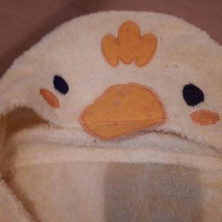 西松屋 フード付きバスタオル ひよこの画像