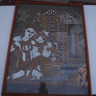 絵画 インド アジア 布絵