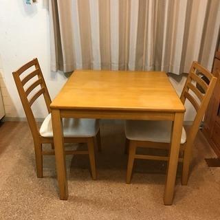ダイニングテーブル 椅子2脚セット