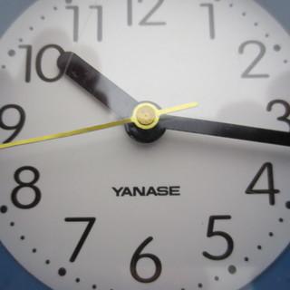 【無料・差し上げます】ヤナセ/YANASE 掛け時計(ブルー)ひも、リング付き - 練馬区