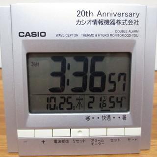 カシオ置時計電波時計DQD-700J温度・湿度表示付き