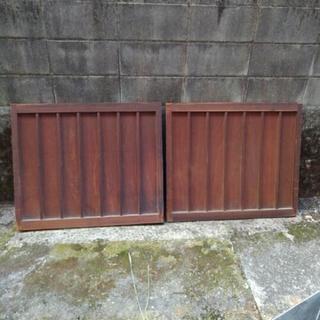 古民家 建具 扉 戸 二枚セット