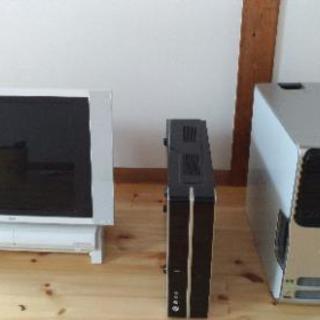 i3パソコン有り 3台セットで HDDなどが取り外されている、パソ...