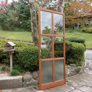 木製ガラス引き戸