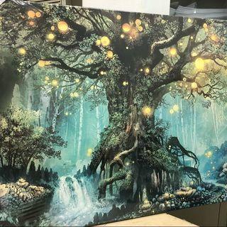緑の森壁掛け絵画 アートパネル