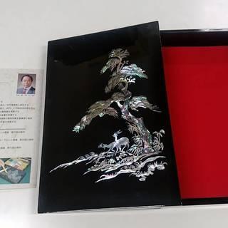 韓国 硯箱 書類入れ 螺鈿漆器 呉在仁先生作品