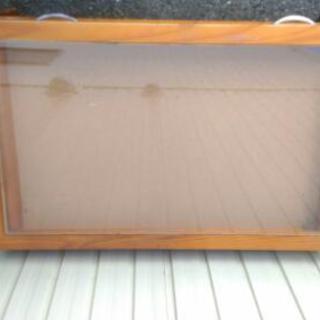 ローテーブル センターテーブル 収納付き ガラス天板 アンティーク ヴィンテージ - 売ります・あげます