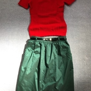 プロポーションのスカートとカットソー