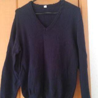 紺色 Vセーター 170センチ