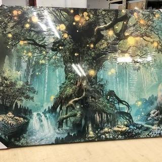 森の絵 アートパネル
