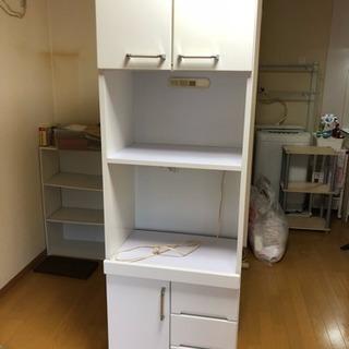 食器棚レンジ棚譲りますホワイト