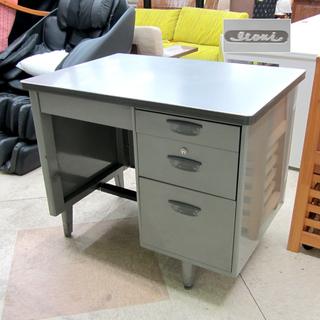 イトーキ 事務机 オフィスデスク 机 片袖 スチール グレイ系