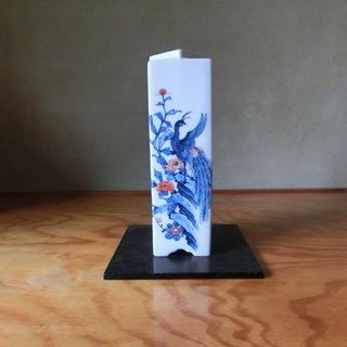 花瓶 花鳥の画像