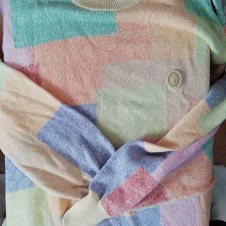 トラサルディ綿のニットセーター メンズ