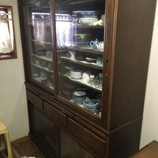 11月18日まで 限定販売 食器棚 149×42×195cm 関東...