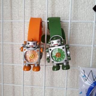 【取引中】【電池切れ】ロボット腕時計 オレンジ&グリーン