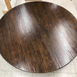 木製円卓テーブル【低め】