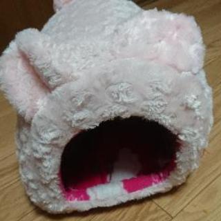 値下げしました うさぎ ドーム クッション ハウス ピンク