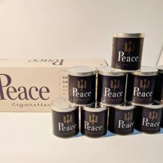 peace 空き缶 10個セットの箱つき!
