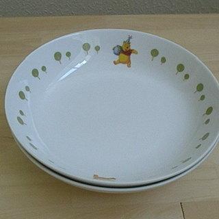 中古 プーさん 皿2枚