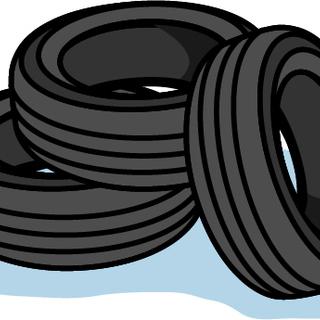 タイヤの短期梱包作業