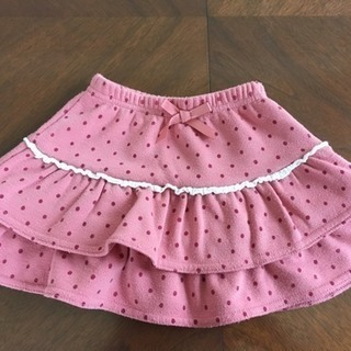 サイズ100  ピンクドットスカート