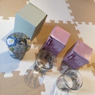 【ネット決済・配送可】京懐石 美濃吉のガラスコップ 2個とまるぶ...