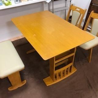 伸縮式ダイニングテーブル幅90cm→120cm